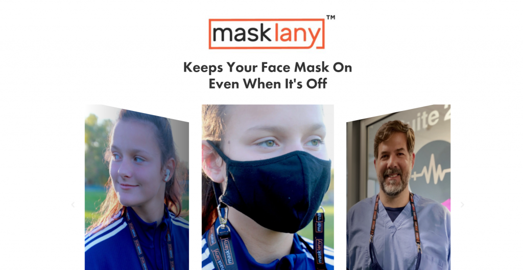 Screen shot of home page of masklany.com